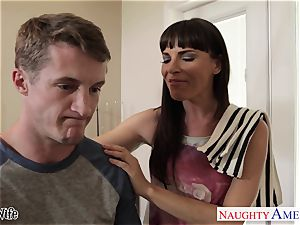 Lusty Dana DeArmond takes his huge stream on her pretty face