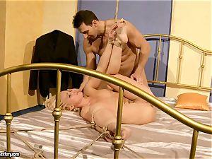 super hot Kathia Nobili gets her slit filled with spear
