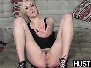 Irresistible Haley Reed blowbanged before dirty facial cumshot