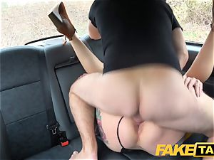 fake cab Ava Austen in steaming naughty cab plumb