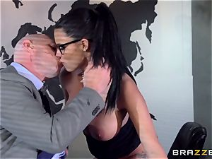 enormous titted Peta Jensen drilled via the boardroom table
