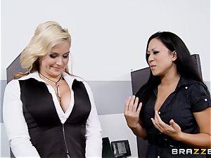 Generous chief drills super-hot secretary Sarah Vandella