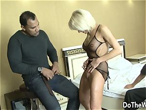 cougar wifey takes black chisel in all fuckholes