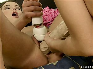 insatiable Blue Angel helps open up out this supersluts snatch