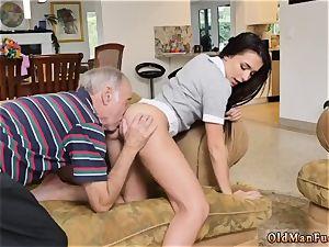 damsel in stocking and 2 girls moviekup riding the senior dick!
