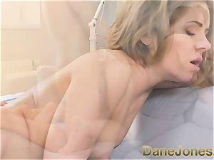 Dane Jones tight figure puny damsel enjoys this yam-sized cock