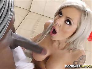 big-titted milf Nina Elle sploogs On Mandingo's big black cock