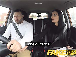 faux Driving school Jasmine Jae entirely bare hookup in car