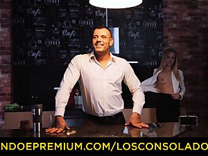 LOS CONSOLADORES - Hungarian ash-blonde gets poked point of view