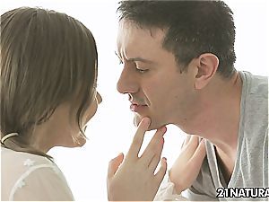 Tina Kay in a sensuous couple romp that is damsel friendly