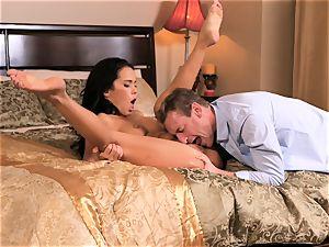 wonderful Megan Rain gets her cock-squeezing poon pummelled
