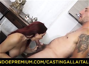 casting ALLA ITALIANA - huge-titted novice goes for buttfuck bang-out