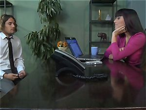 Mercedes Carrera gets an workers weenie deep inwards her