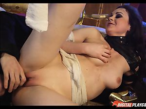 Tina kay has huge blast on her wonderful adorable face from frankenstein