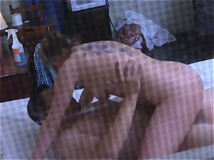 Brianna brown caught on spy webcam as she smashes