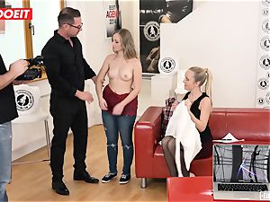 red-hot Czech petite nubile ravages Her first-ever porn casting