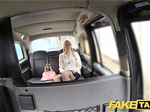 faux cab blond likes older guys in backseat of taxi