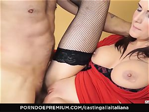 casting ALLA ITALIANA - buxomy brown-haired likes humid buttfuck
