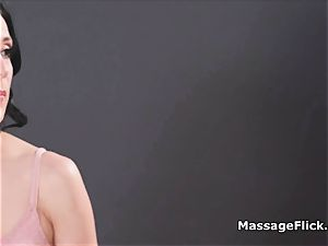 mouth-watering snatch fingering and tribbing massage