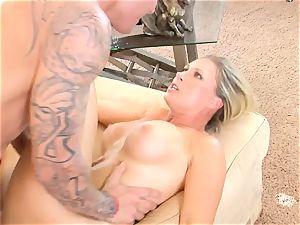 Devon Lee honey getting mans seed split in her jaws