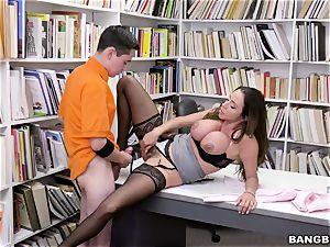 superb latin hooters instructor Ariella Ferrera entices youthful schoolboy