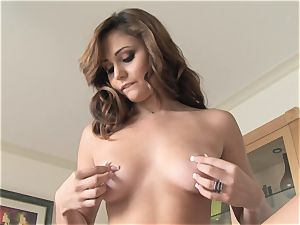 jiggly Ariana Marie softcore solo getting off