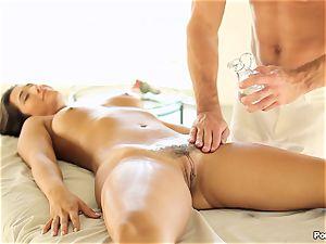 Eva Lovia likes an after massage penetrating