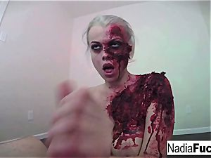 nasty zombie gets her fill of spunk-pump and spunk