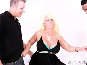 vulva plunged Alura Jenson by hefty ebony cock and milky man
