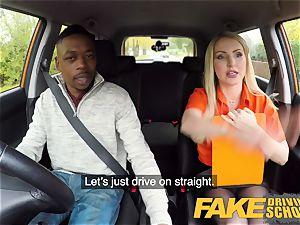 fake Driving school long ebony jizz-shotgun sates towheaded