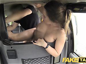 fake cab european dame nailed with rock stiff penis facial