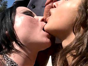 Veruca James and Abella Danger getting pulverized by Rocco Siffredi