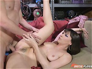 Dana DeArmond gets her magnificent taut cooter licked and toyed with