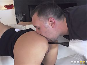 Maid Anissa Kate getting her tastey donk ravaged by a humungous meatpipe