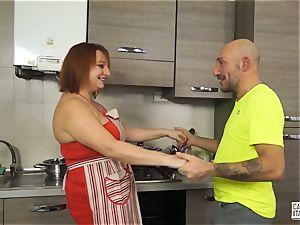 casting ALLA ITALIANA - Italian ginger-haired deep rectal hump