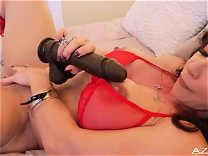 sport mother milf ejaculations WITH big black faux-cock