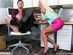 strict headmistress Nikita Von James with phat fun bags operates its employee