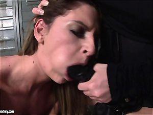 Kathia Nobili lets a super-fucking-hot female gargle her string on