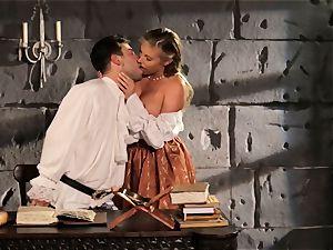 Fairytale stunner Samantha Saint gets to drill her prince