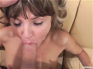 Gina Gerson enjoys getting her face strewn with spunk