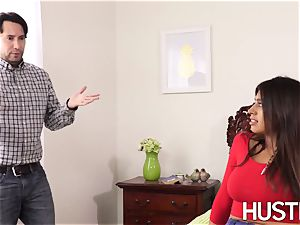 super steaming stepsis Ella Knox bent over and penetrated rock-hard