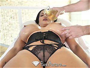 PureMature lubricated up massage boink with milf Ava Addams