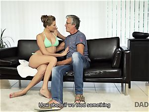 DADDY4K. female left with mouthful of spunk after being ravaged by parent
