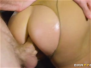 oiled up Cathy Heaven getting butt banged