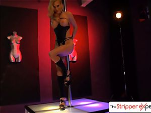The StripperExperience- Sarah Jessie nailing a large pipe