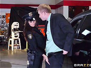 super-hot cop Ava Addams takes advantage of a opportunity seize