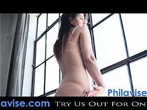 PHILAVISE-Beautiful innate jug brown-haired Karina white